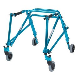 Drive Medical Nimbo Rehab Lightweight Posterior Posture Walker, Youth, Cornflower Blue - 1 ea