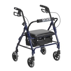 Drive Medical Junior Rollator with Padded Seat, Blue - 1 ea