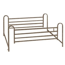 Drive Medical Full Length Hospital Bed Side Rails - 1 Pair