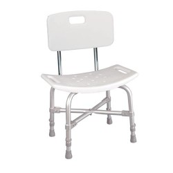 Drive Medical Bariatric Heavy Duty Bath Bench with Backrest - 1 ea