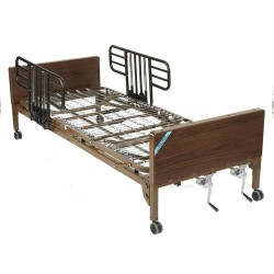 Drive Medical Multi Height Manual Hospital Bed with Half Rails - 1 ea