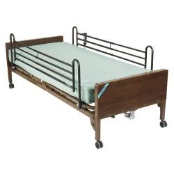 Drive Medical Delta Ultra Light Semi Electric Bed with Full Rails and Foam Mattress - 1 ea