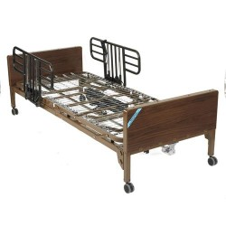 Drive Medical Delta Ultra Light Full Electric Bed with Half Rails - 1 ea