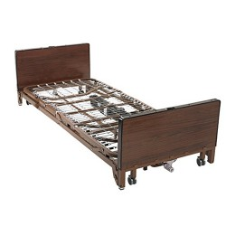 Drive Medical Delta Ultra Light Full Electric Low Bed with Full Rails - 1 ea