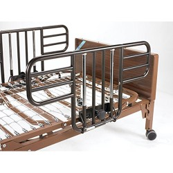 Drive Medical Delta Ultra Light Full Electric Low Bed with Half Rails - 1 ea