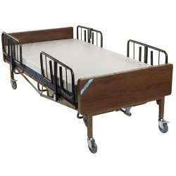 Drive Medical Full Electric Heavy Duty Bariatric Hospital Bed, with Mattress and 1 Set of T Rails - 1 ea