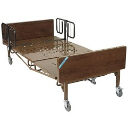 Drive Medical Full Electric Super Heavy Duty Bariatric Hospital Bed with 1 Set of T Rails - 1 ea