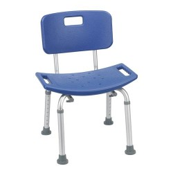 Drive Medical Bathroom Safety Shower Tub Bench Chair with Back, Blue - 1 ea