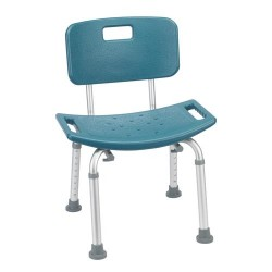 Drive Medical Bathroom Safety Shower Tub Bench Chair with Back, Teal - 1 ea