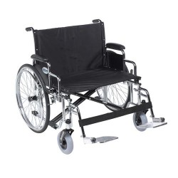 Drive Medical Sentra EC Heavy Duty Extra Wide Wheelchair, Detachable Desk Arms, Swing away Footrests, 30 inches Seat - 1 ea