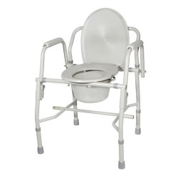 Drive Medical Steel Drop Arm Bedside Commode with Padded Arms - 1 ea