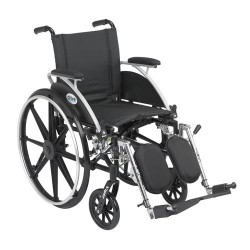 Drive Medical Viper Wheelchair with Flip Back Removable Arms, Desk Arms, Elevating Leg Rests, 12 inches Seat - 1 ea
