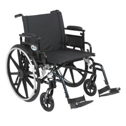 Drive Medical Viper Plus GT Wheelchair with Flip Back Removable Adjustable Desk Arms, Swing away Footrests, 22 inches Seat - 1 ea