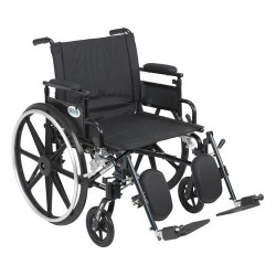 Drive Medical Viper Plus GT Wheelchair with Flip Back Removable Adjustable Desk Arms, Elevating Leg Rests, 22 inches Seat - 1 ea