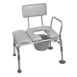 Drive Medical Padded Seat Transfer Bench with Commode Opening - 1 ea