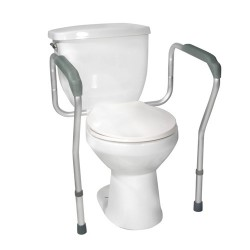 Drive Medical Toilet Safety Frame with Padded Armrests - 1 ea