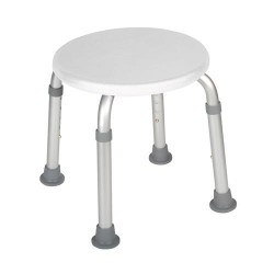 Drive Medical Adjustable Height Bath Stool, White - 1 ea