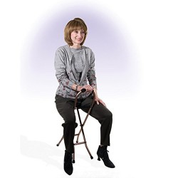 Drive Medical Folding Lightweight Cane with Sling Style Seat - 1 ea