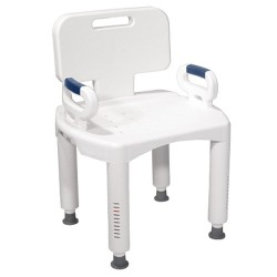 Drive Medical Premium Series Shower Chair with Back and Arms - 1 ea