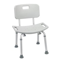Drive Medical Bathroom Safety Shower Tub Bench Chair with Back, Gray - 1 ea