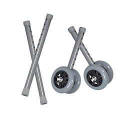 Drive Medical Heavy Duty Bariatric Walker Wheels, with Extension Legs, 5 inches - 1 Pair