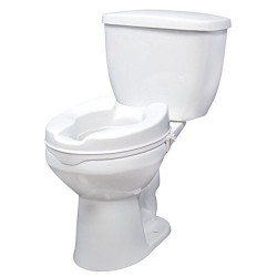 Drive Medical Raised Toilet Seat with Lock, 4 inches - 1 ea