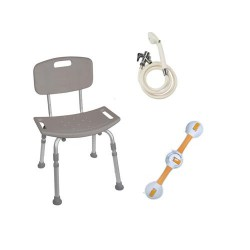 Drive Medical Shower Tub Chair Grab Bar Safety Bundle - 1 ea