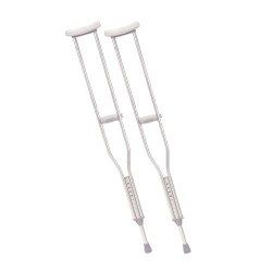Drive Medical Walking Crutches with Underarm Pad and Handgrip, Tall Adult - 1 Pair