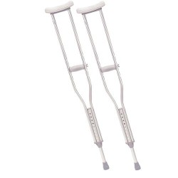 Drive Medical Walking Crutches with Underarm Pad and Handgrip, Adult - 1 Pair