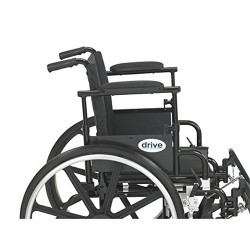 Drive Medical Viper Plus GT Wheelchair with Flip Back Removable Adjustable Desk Arms, Elevating Leg Rests, 16 inches Seat - 1 ea