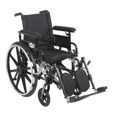 Drive Medical Viper Plus GT Wheelchair with Flip Back Removable Adjustable Full Arms, Elevating Leg Rests, 16 inches Seat - 1 ea