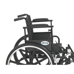 Drive Medical Viper Plus GT Wheelchair with Flip Back Removable Adjustable Desk Arms, Elevating Leg Rests, 18 inches Seat - 1 ea