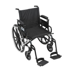 Drive Medical Viper Plus GT Wheelchair with Flip Back Removable Adjustable Desk Arms, Swing away Footrests, 18 inches Seat - 1 ea