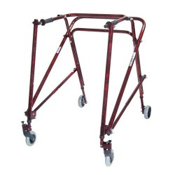 Drive Medical Nimbo Rehab Lightweight Posterior Posture Walker, Adult, Flame Red - 1 ea
