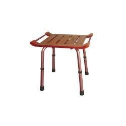 Drive Medical Adjustable Height Teak Bath Bench Stool, Rectangular - 1 ea