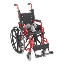 Drive Medical Wallaby Pediatric Folding Wheelchair, 12 inches Seat - 1 ea