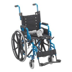 Drive Medical Wallaby Pediatric Folding Wheelchair, 14 inches Seat - 1 ea