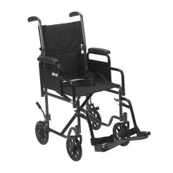 Drive Medical Lightweight Steel Transport Wheelchair - 1 ea