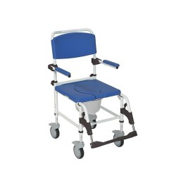 Drive Medical Aluminum Shower Commode Transport Chair - 1 ea