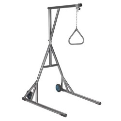 Drive Medical Heavy Duty Trapeze with Base and Wheels, Silver Vein - 1 ea
