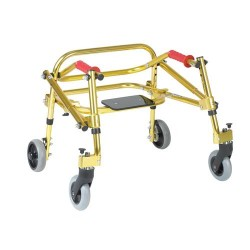 Drive Medical Nimbo Rehab Lightweight Posterior Posture Walker with Seat, Tyke, Golden Yellow - 1 ea