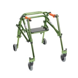 Drive Medical Nimbo Rehab Lightweight Posterior Posture Walker with Seat, Junior, Lime Green - 1 ea