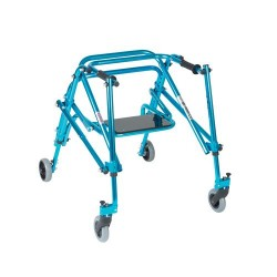 Drive Medical Nimbo Rehab Lightweight Posterior Posture Walker with Seat, Youth, Cornflower Blue - 1 ea