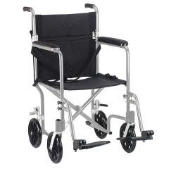 Drive Medical Flyweight Foldable Transport Chair, Silver Frame - 1 ea