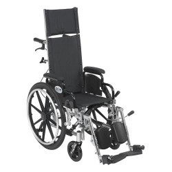 Drive Medical Viper Plus Light Weight Reclining Wheelchair with Elevating Leg Rests and Flip Back Detachable Arms, 12 inches Seat - 1 ea