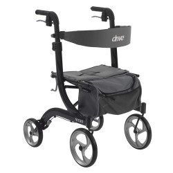 Drive Medical Nitro Euro Style Walker Rollator, Black - 1 ea