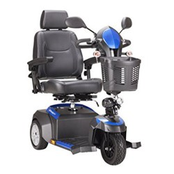 Drive Medical Ventura Power Mobility Scooter, 3 Wheel, 18 inches Captains Seat - 1 ea