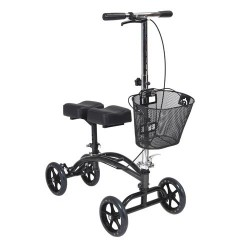 Drive Medical Dual Pad Steerable Knee Walker with Basket, Alternative to Crutches - 1 ea
