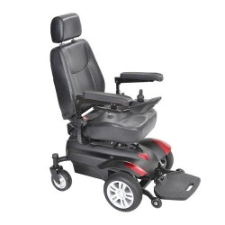 "Drive Medical Titan X23 Front Wheel Power Wheelchair, Vented Captain's Seat, 18"" X 18""- 1 ea"
