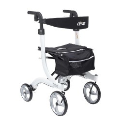 Drive Medical Nitro Euro Style Walker Rollator, Tall, White - 1 ea